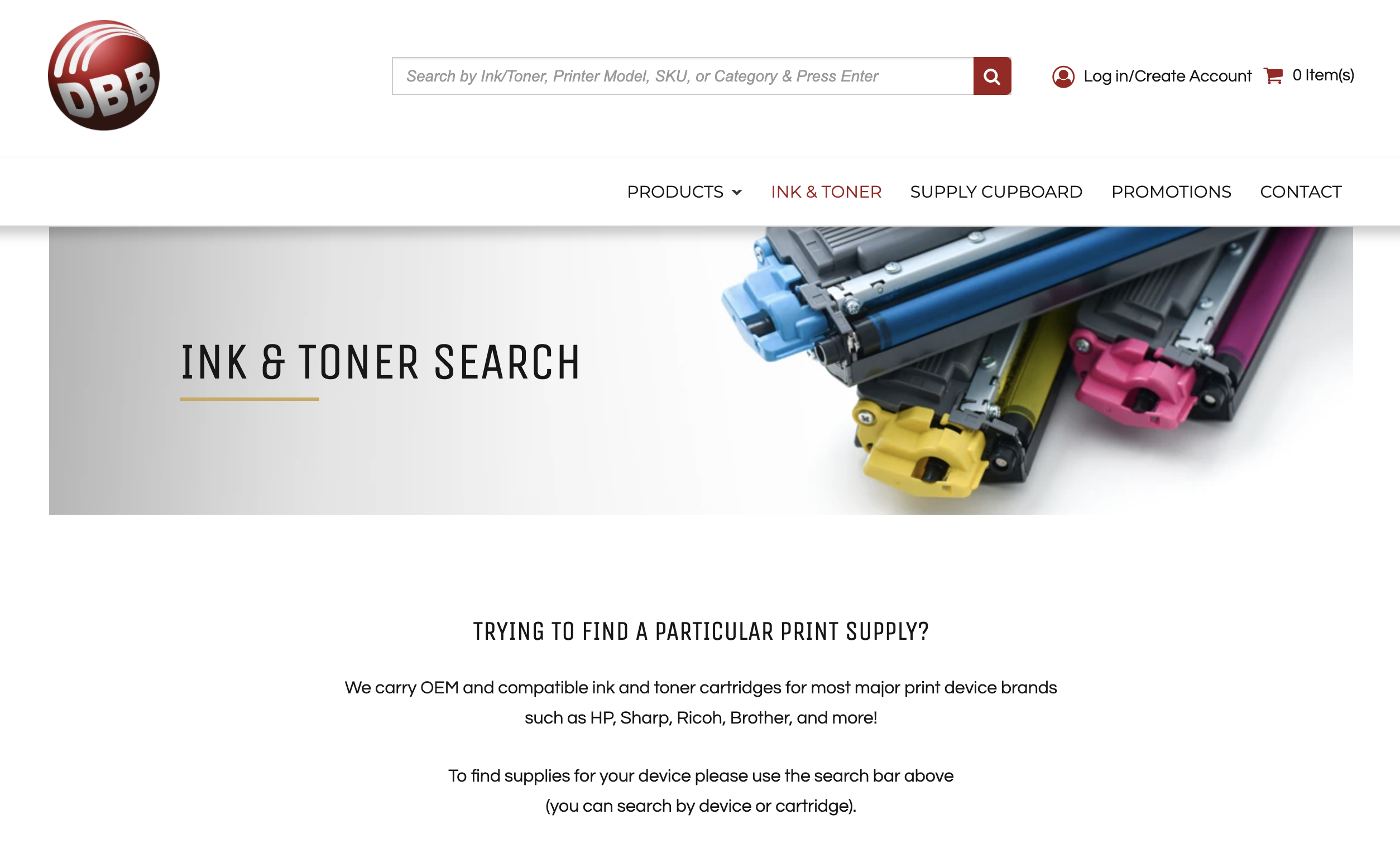 Ink and Toner Search