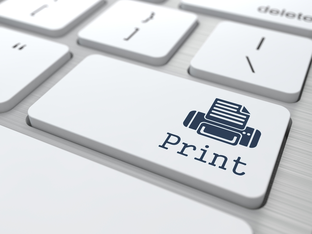 Gray Button Print on Modern Computer Keyboard.