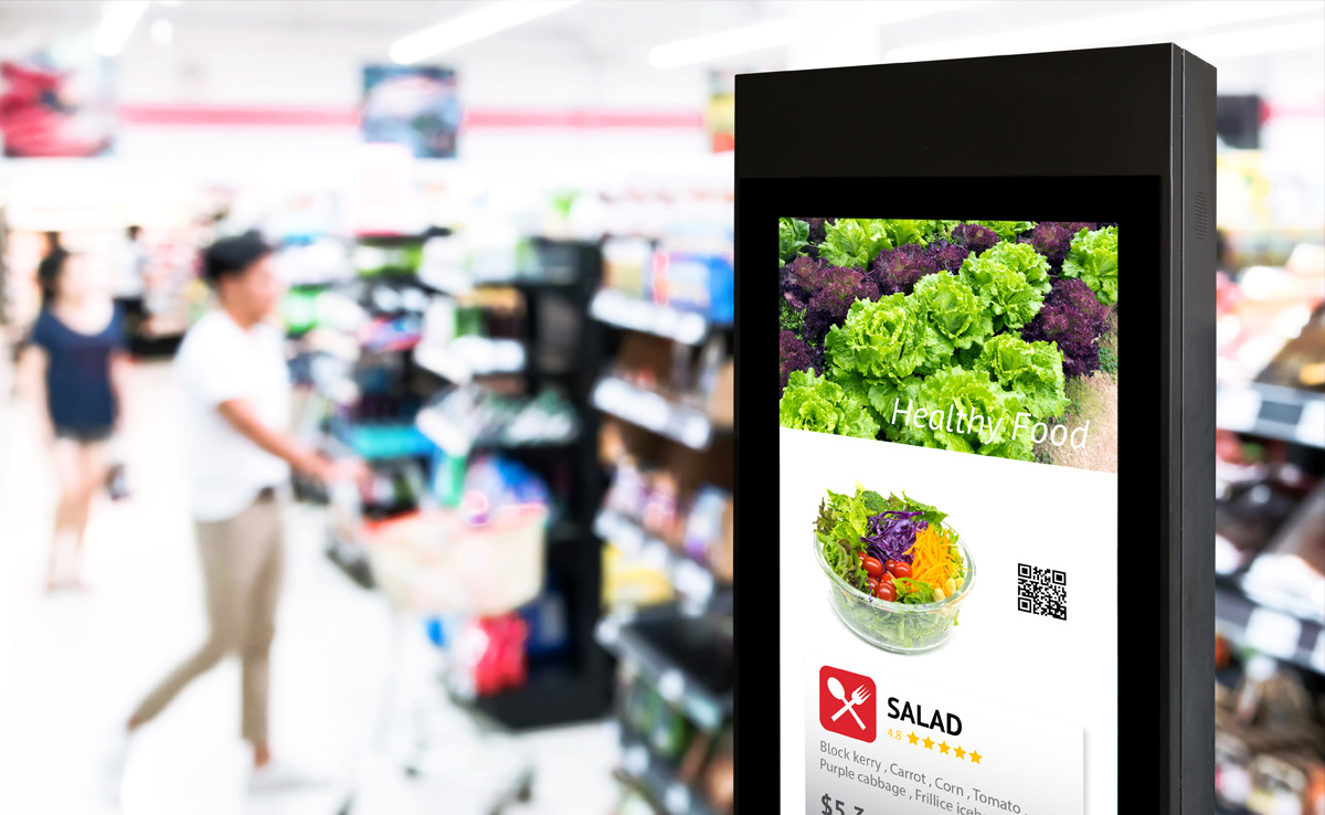Why Advertising in Supermarkets is Switching to Digital Signage