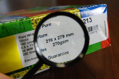 Understanding Paper Weights