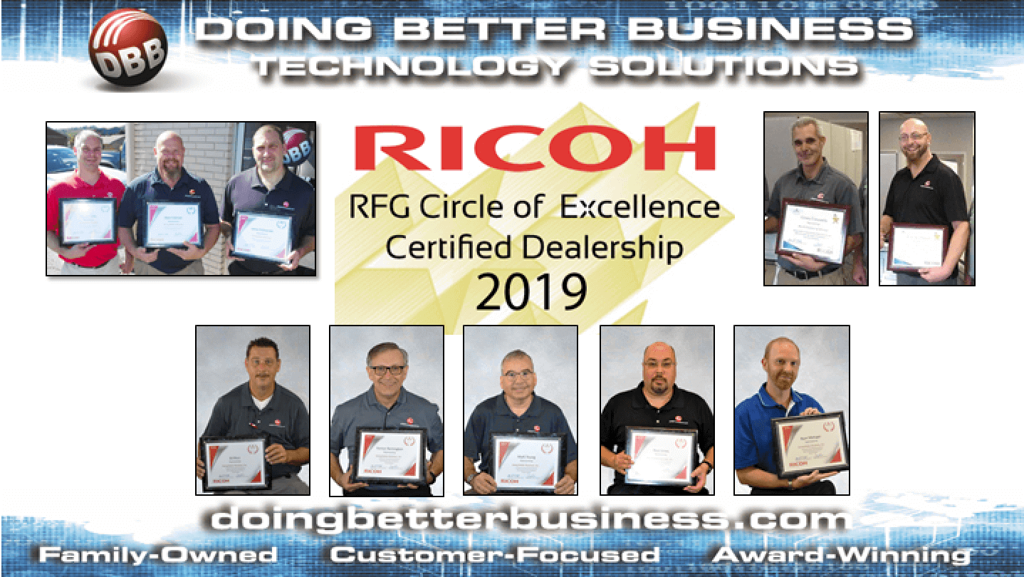 Doing Better Business receives 2019 Ricoh Circle of Excellence Award & Prestige Certification