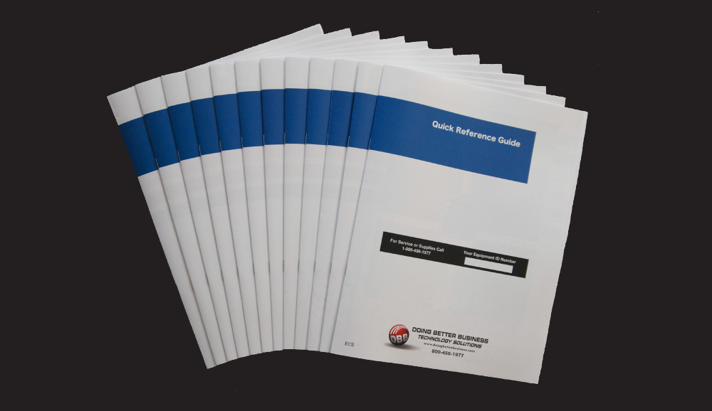 Printing Saddle Bound Booklets